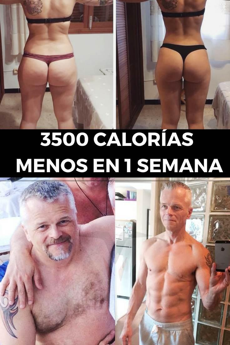 3500 calorías menos en 1 semana