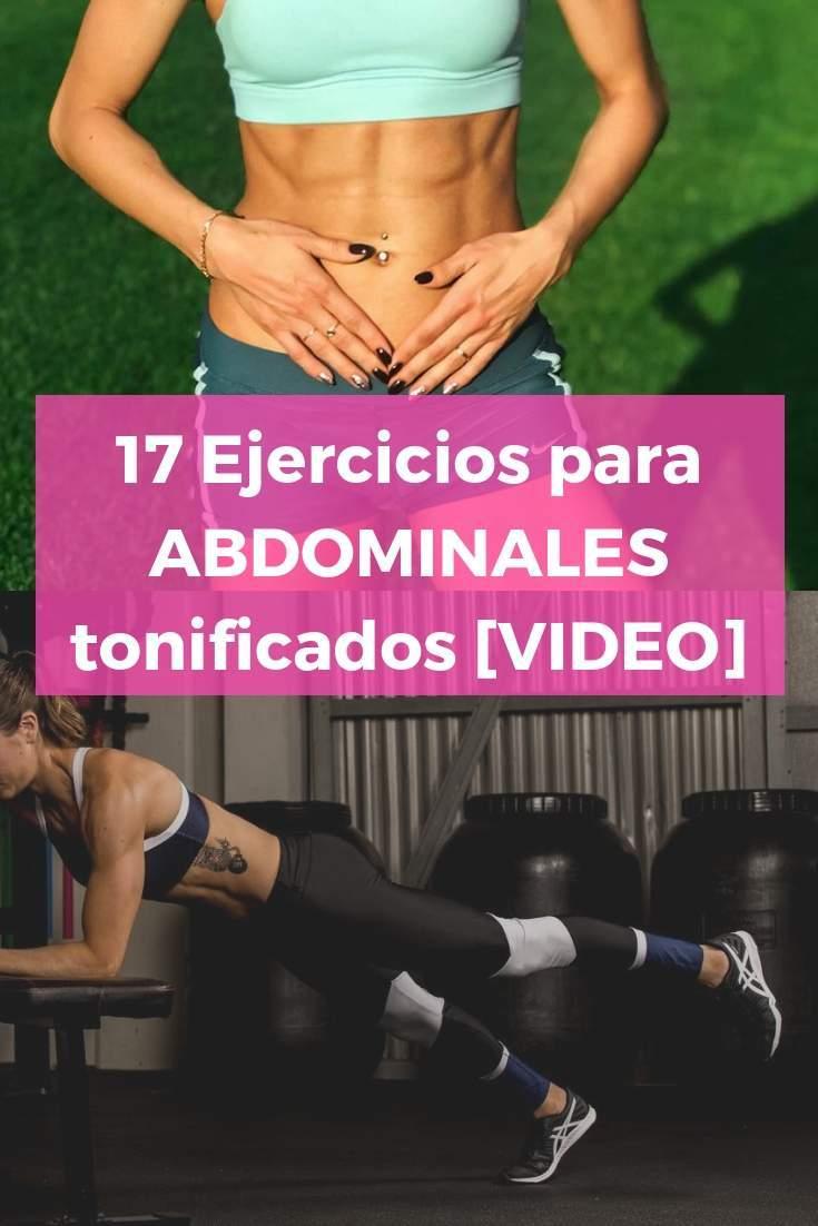 17 Ejercicios para ABDOMINALES tonificados [VIDEO]