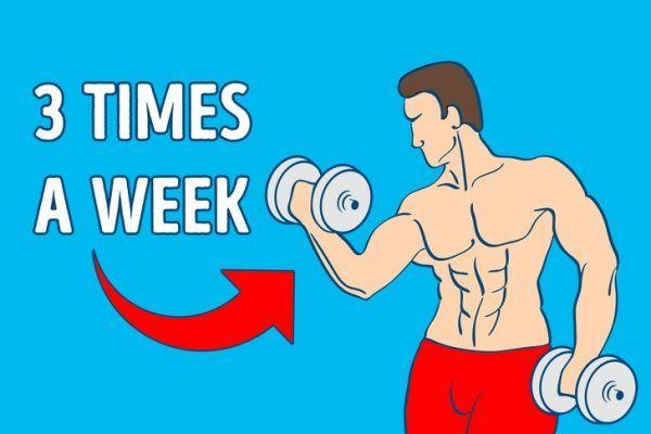 Entrena al menos 3 veces por semana