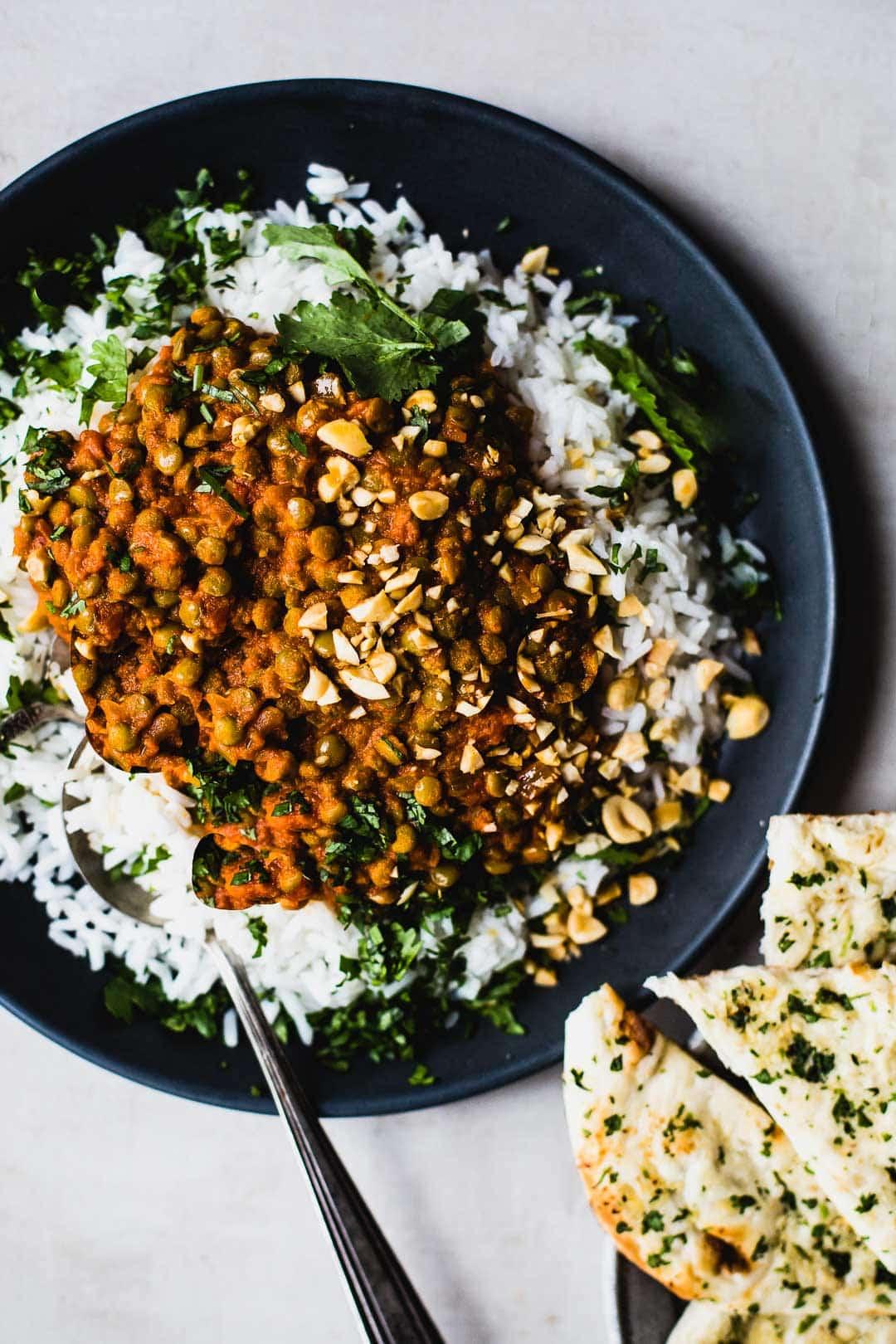Lentejas al curry rojo [RECETA RÁPIDA Y NUTRITIVA] 4