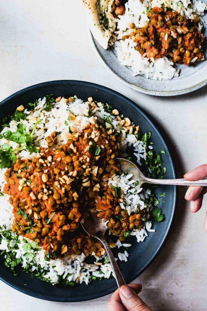Lentejas al curry rojo [RECETA RÁPIDA Y NUTRITIVA] 1