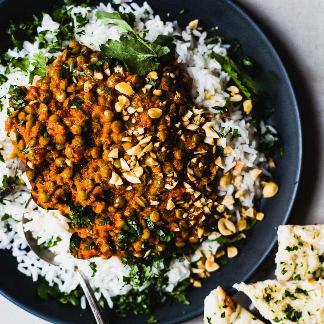 Lentejas al curry rojo [RECETA RÁPIDA Y NUTRITIVA] 5