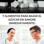 7 alimentos para bajar el azúcar en sangre (inmediatamente)