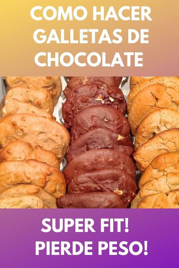 Como hacer galletas de chocolate super fit! . Pierde peso! 1