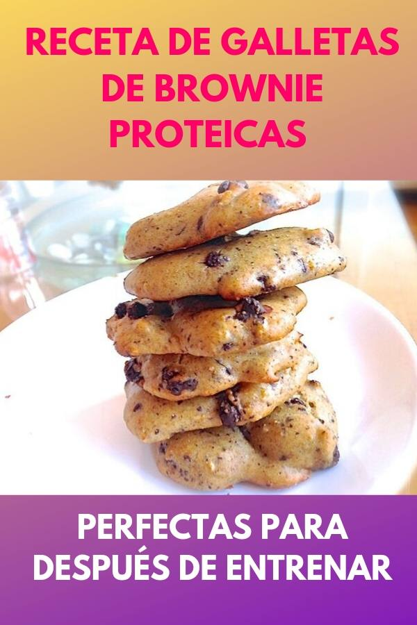 Receta de galletas de brownie proteicas . Perfectas para después de entrenar. 1