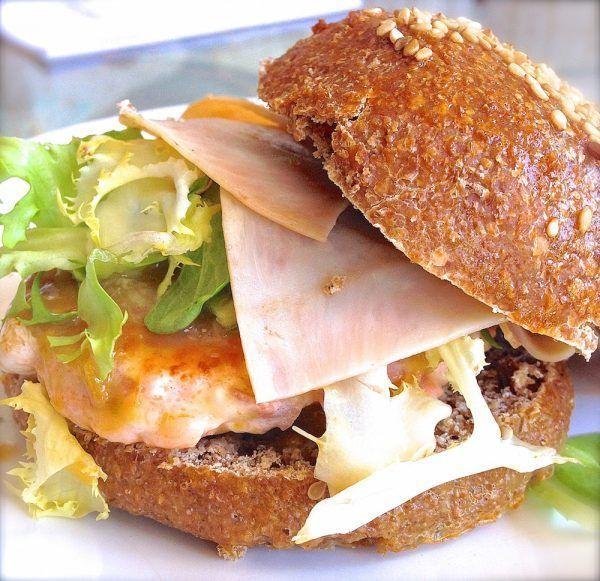 Receta de hamburguesa casera de salmón . Saludable y deliciosa 2
