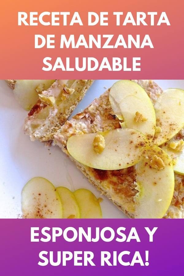 Receta de tarta de manzana saludable . Esponjosa y super rica! 1