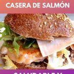 Receta de hamburguesa casera de salmón . Saludable y deliciosa 8