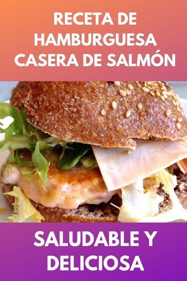 Receta de hamburguesa casera de salmón . Saludable y deliciosa 1