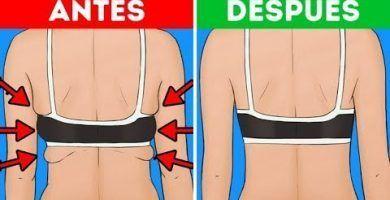Cómo perder la grasa de la espalda y en los brazos RÁPIDO!