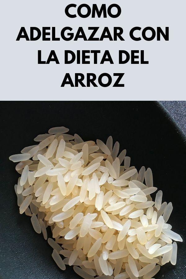 Como ADELGAZAR con la dieta del arroz