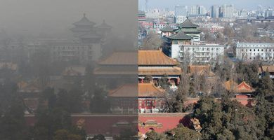 Beijing saca 5 millones de autos fuera de la carretera ... El cielo se vuelve azul 16