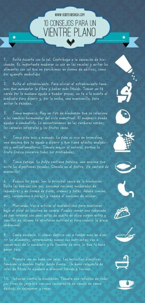 10 consejos para vencer la grasa del vientre y eliminar la hinchazón 1